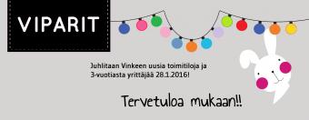 VIPARIT – Vinkeen uusien toimitilojen viralliset tuparit!